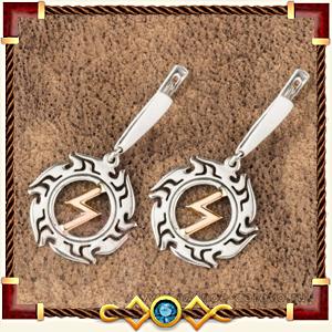 Серьги - обереги из серебра и золота
