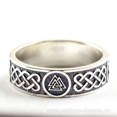 Кольцо Валькнут из серебра